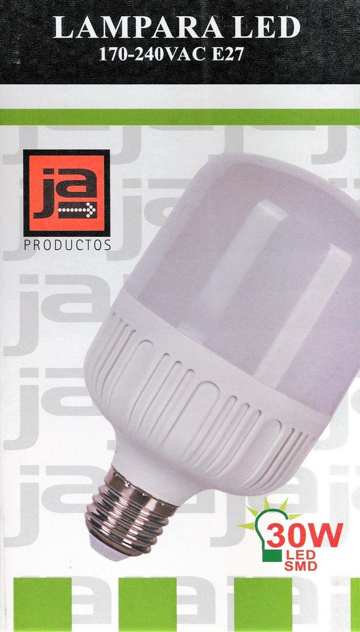 LED E27 LAMPARAS L1030 LAMPARA ILUMINACION LED 3000K JA 30W PXukiZ