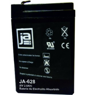 BATERIA ELECTROL.ABSORBIDO 6V-2.8AH