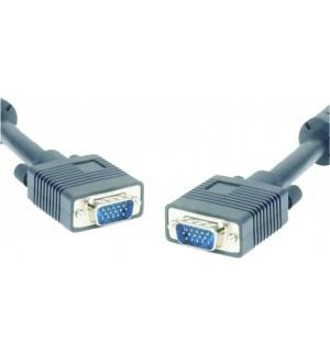 CABLE HD15/HD15 PLUG/PLUG 15M BLACK